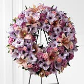 Pastel Flowers Wreath Spray