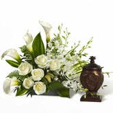 Calla Lilies And Urn Arrangement