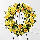 Yellow Rose Flower Wreath