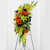 Tropical Flowers Standing Spray
