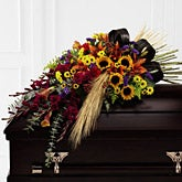 Garden Splendor Casket Spray