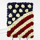 Patriotic Glory Flag Standing Spray