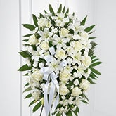 White Floral Tribute Standing Spray