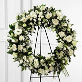 Serenity White Rose Wreath Spray