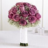 Lavender Rose & Baby's Breath Handheld Bouquet