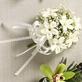 Love's Embrace White Flower Corsage