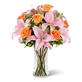 Blushing Heart Pink Lily Bouquet