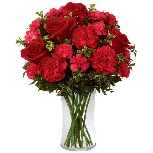 True To You Garden Rose Bouquet