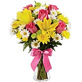Sunny Sweetness Yellow Lilies Bouquet