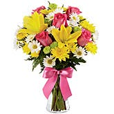 Sunny Yellow Lilies Bouquet
