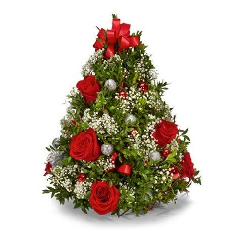Christmas Tree Flower Arrangement