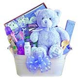 My First Teddy Blue Gift Basket
