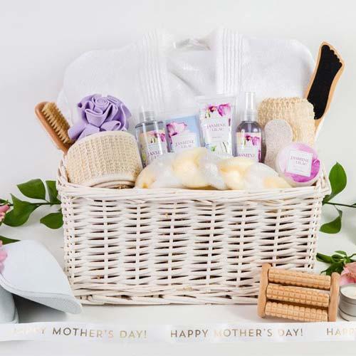 Lilac & Jasmine Spa Gift Basket for Mom
