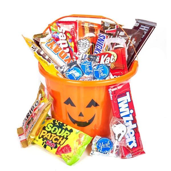 Happy Halloween Candy Pumpkin Bucket