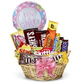 Baby Girl Candy Basket + Balloon