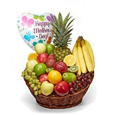 Premium Fruit Basket + Mother's Day Balloon