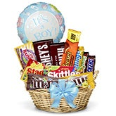 Baby Boy Candy Basket + Balloon