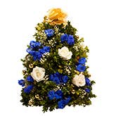 Rockin' Blue Mini Christmas Tree