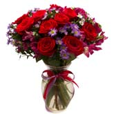 Rubies And Roses Bouquet