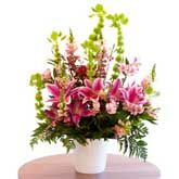 Large Pink Lily Arrangement