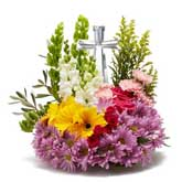 Crystal Cross Floral Arrangement