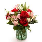 Spring Rose Mason Jar Bouquet