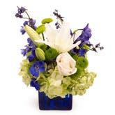 Floral Fascination Blue Bouquet