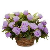 Lavender Rose Basket