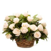 Beautiful White Blooms Basket