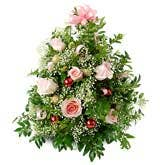 Christmas Tree With Pink Roses