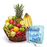 Father's Day Fruit Basket And Balloon