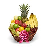 Fruit Basket Red Bow