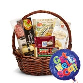 Get Well Soon Gift Basket And Balloon