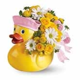 Ducky Delight Baby Girl Bouquet