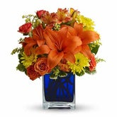 Summer Nights Orange Flower Bouquet