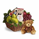 Premium Gift Basket With Bear
