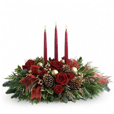 Woodland Flower Candle Centerpiece
