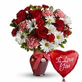 Mon Coeur Flowers And Balloon