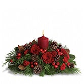 Spirit of the Season Red Roses Centerpiece