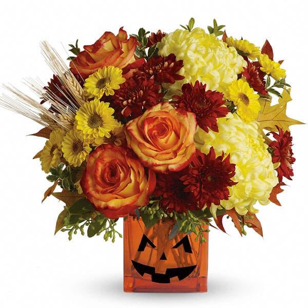 Jack-O-Lantern Halloween Bouquet