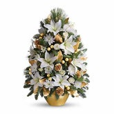 Celebration White Lilies Christmas Tree