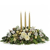 Royal White Rose Christmas Centerpiece