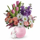 Hug Me Bunny Flowers Bouquet