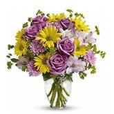 Butterfly Serenity Purple Rose Bouquet