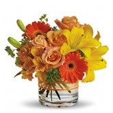 Sunny Siesta Orange Rose Bouquet