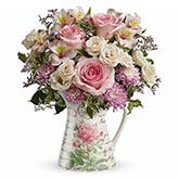 Spring Roses Pitcher Bouquet