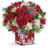Snowflake Joy Christmas Flower Bouquet