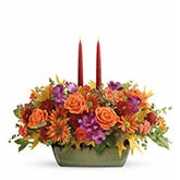 Autumn Sunrise Candle Centerpiece