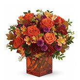 Orange Embers Rose Bouquet