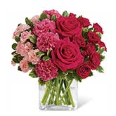 Pure Heart Pink Rose Bouquet